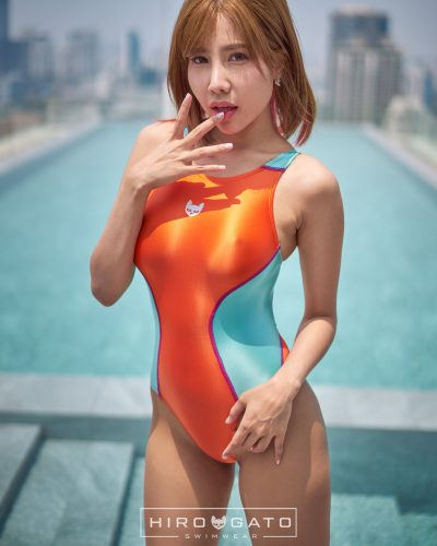 Swimsuit Orange Blue