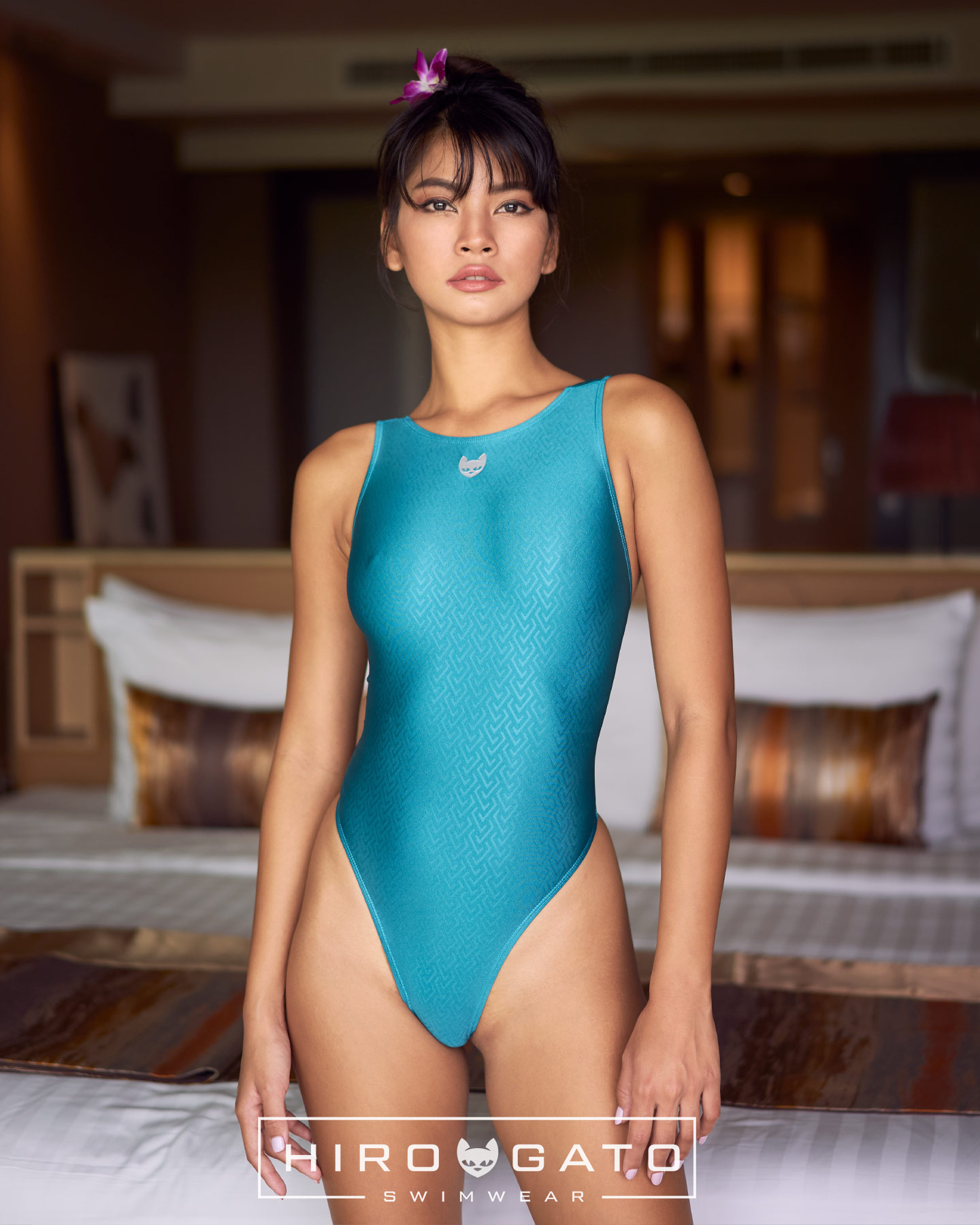 Thong Swimsuit Green